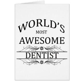 El dentista más impresionante del mundo tarjeta de felicitación