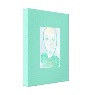 El dentista, retrato del verde azul del dibujo de impresiones en lona