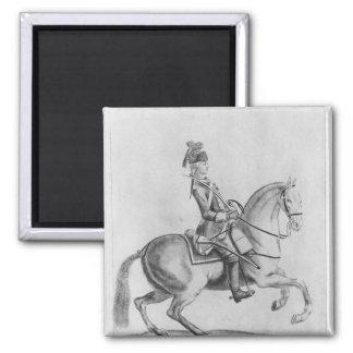 El d'Eon del Chevalier como Dragoon, 1779 Imán Cuadrado