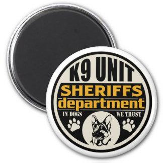 El departamento de sheriff de la unidad K9 Imán Redondo 5 Cm
