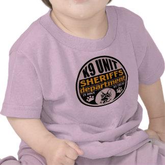 El departamento de sheriff de la unidad K9 Camisetas