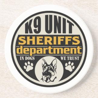 El departamento de sheriff de la unidad K9 Posavasos Manualidades