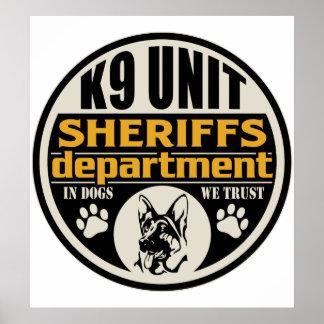 El departamento de sheriff de la unidad K9 Póster