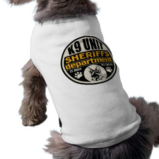 El departamento de sheriff de la unidad K9 Playera Sin Mangas Para Perro