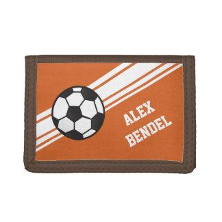 El deporte deportivo del fútbol anaranjado raya la