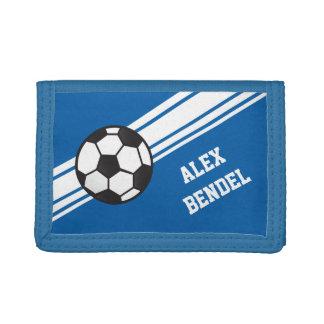 El deporte deportivo del fútbol azul raya la carte