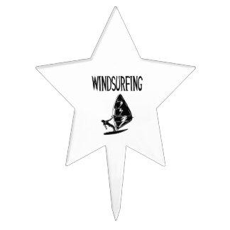 el deporte negro windsurfing del texto v4 windsurf figura para tarta
