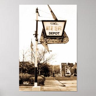 El depósito de la cerveza de Ann Arbor Michigan Póster