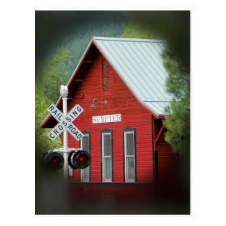 El depósito rojo de la acémila tarjetas postales