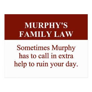 El derecho de familia de Murphy 2 Tarjeta Postal