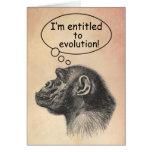 El derecho de la evolución del gran mono tarjetón