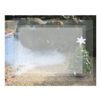 El derecho del árbol de navidad agita rocas membrete personalizado