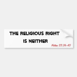 El derecho religioso no es ninguna pegatina para e pegatina para auto