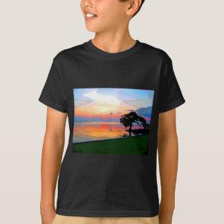 El derramamiento de Sun embroma la camiseta oscura