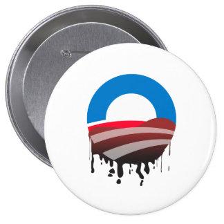 El derrame de petróleo de Obama Pin Redondo De 4 Pulgadas