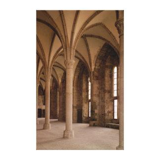 El DES Hotes, vista interior de Salle de la abadía Impresiones En Lona