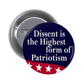 El desacuerdo es el botón más alto de la forma pin redondo de 2 pulgadas