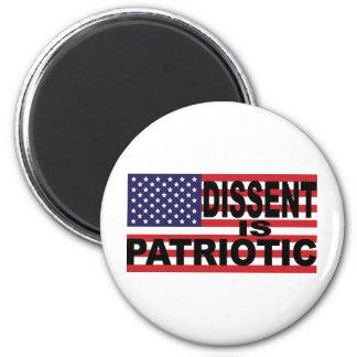 El desacuerdo es patriótico imán redondo 5 cm