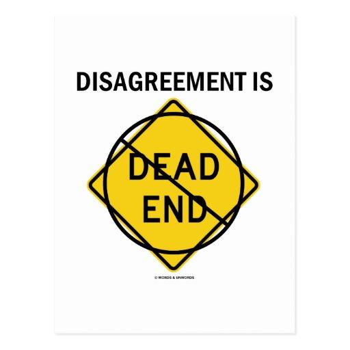 El desacuerdo no es ningún callejón sin salida (la postal