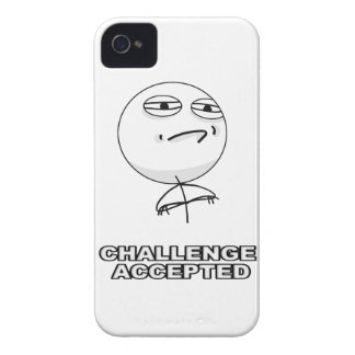 El desafío aceptó el caso de Meme del iPhone 4 Case-Mate iPhone 4 Cárcasa