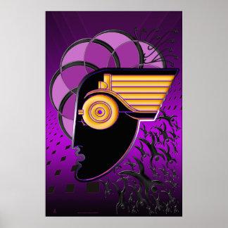 El desalojo urgente de la ciudad del motor (poster póster