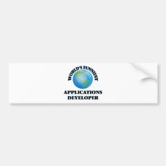 El desarrollador de los usos más divertido del etiqueta de parachoque