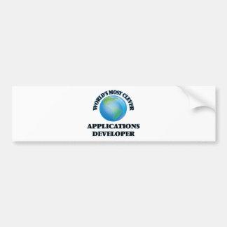 El desarrollador de los usos más listo del mundo etiqueta de parachoque