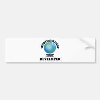 El desarrollador más atractivo de la prueba del etiqueta de parachoque