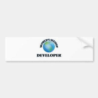 El desarrollador más atractivo del mundo etiqueta de parachoque
