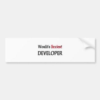 El desarrollador más atractivo del mundo pegatina de parachoque