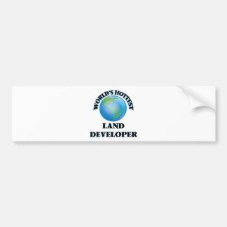 El desarrollador más caliente de la tierra del etiqueta de parachoque