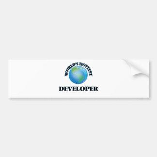 El desarrollador más caliente del mundo pegatina de parachoque