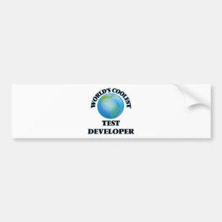 El desarrollador más fresco de la prueba del mundo etiqueta de parachoque