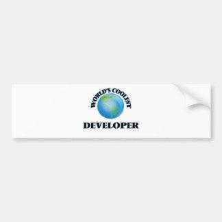 El desarrollador más fresco del mundo etiqueta de parachoque