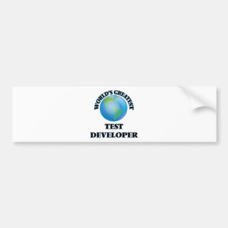 El desarrollador más grande de la prueba del mundo pegatina de parachoque