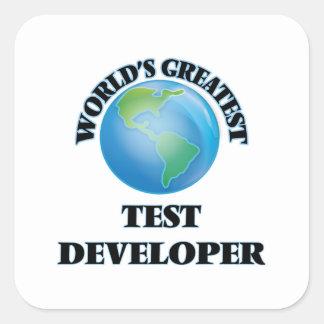 El desarrollador más grande de la prueba del mundo pegatina cuadrada