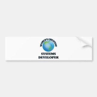 El desarrollador más grande de los sistemas del pegatina de parachoque