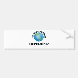 El desarrollador más grande del mundo pegatina de parachoque