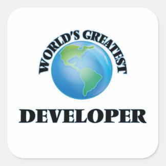 El desarrollador más grande del mundo pegatina cuadrada