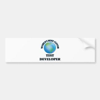 El desarrollador más listo de la prueba del mundo etiqueta de parachoque