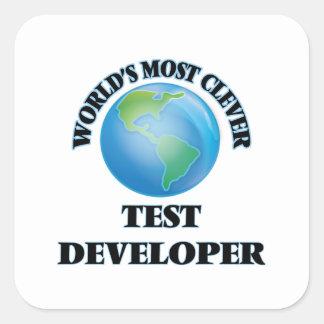El desarrollador más listo de la prueba del mundo pegatina cuadrada