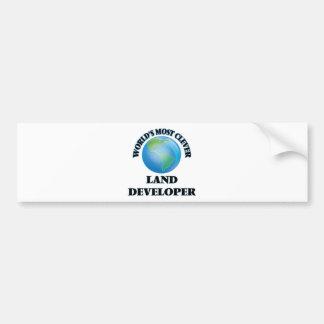 El desarrollador más listo de la tierra del mundo etiqueta de parachoque
