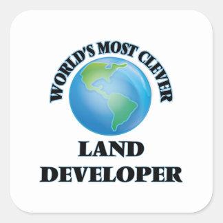 El desarrollador más listo de la tierra del mundo pegatina cuadrada