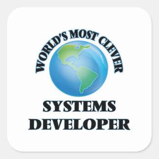 El desarrollador más listo de los sistemas del pegatina cuadrada