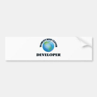 El desarrollador más listo del mundo pegatina de parachoque