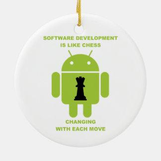 El desarrollo de programas es como movimiento adorno redondo de cerámica