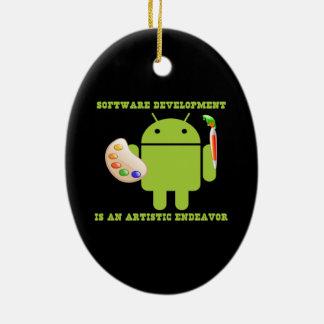 El desarrollo de programas es un esfuerzo adorno ovalado de cerámica