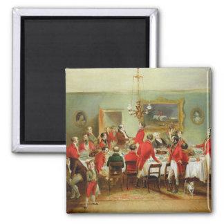 El desayuno de la caza, Pasillo del soltero, 1836  Imán Cuadrado