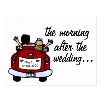 El desayuno del boda invita a las postales