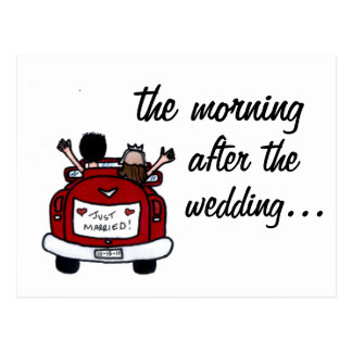 El desayuno del boda invita tarjeta postal